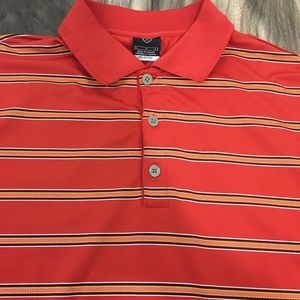 Nike golf Dri-Fit UV striped polo size large